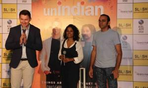 Former Australian cricket player turned actor Brett Lee during the promotion of upcoming film Unindian in Mumbai.
