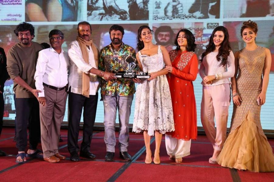 Balakrishna, Shriya Saran, Charmi at Paisa Vasool audio success ...
