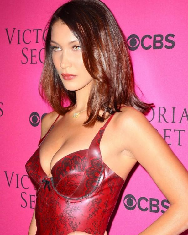 Bella Hadid goes braless as she exits Victorias Secret