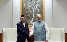 Nepal Prime Minister K.P. Oli was accorded a ceremonial welcome at the Rashtrapati Bhavan here on Saturday. Oli who is on his first visit to India after returning to power in February was received by his Indian counterpart Narendra Modi. Oli, his wife Radika Shakya and a 54-member high-level delegation arrived on Friday on a three-day state visit.