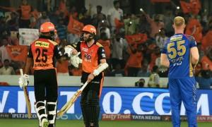 Brilliant batting from opener Shikhar Dhawan (77 not out) helped Sunrisers Hyderabad outplay Rajasthan Royals by nine wickets in the fourth match of the Indian Premier League (IPL) here on Monday. Right from the start, Dhawan, who slammed 13 boundaries and one six, made his intentions clear. Though Hyderabad started poorly, losing their opener Wriddhiman Saha (5), but after that there was no looking back as Dhawan and skipper Kane Williamson (36 not out) guided it to a comfortable victory with over four overs remaining.