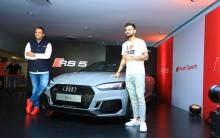 Mr. Rahil Ansari, Head, Audi India with Indian Cricket Team Captain Virat Kohli unveiling the Audi RS 5 Coupe in Bengaluru. Priced at INR 1,10,65,000, the all new Audi RS 5 Coupé is now available at all Audi dealerships across India.