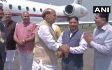 Union Home Minister Rajnath Singh, along with a high-level delegation of government officials, on Thursday arrived in Jammu and Kashmir's Srinagar to review the security situation of the state. Singh is being accompanied by Union Home Secretary, Rajiv Gauba, Joint Secretary Jammu and Kashmir, Gyanesh Kumar and Minister of State for Prime Minister's Office, Jitendra Singh. The two-day visit comes in the midst of multiple issues causing turmoil in the state, such as cross-border firing, ceasefire violation, terrorist infiltration, attacks on security personnel, and stone pelting incidents. The Rajnath-led delegation will also be inspecting security arrangements in lieu of the Amarnath Yatra.