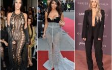 From curve-hugging gowns with plunging neckline to epic cutout ensembles, American TV star Kim Kardashian knows very well how to flaunt her legendarily amazing body. Here are the examples.