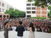 Loveratri promotion: Aayush Sharma and Warina Hussain visit ITM college in Vadodara