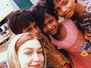 Gigi Hadid visits Rohingya refugees in Bangladesh