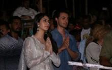 Aayush Sharma and Warina Hussain at Varanasi
