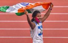 Swapna Barman bags gold in women's heptathlon