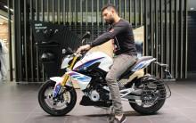 Yuvraj Singh with his new BMW G 310 R bike