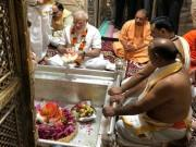 PM Narendra Modi offers prayers at Kashi Viswanath temple